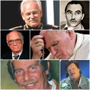 Ranieri III di Monaco, Alberto Lattuada, Arthur Miller, Papa Giovanni Paolo II, Alberto Castagna e Ambrogio Fogar