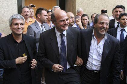 Nichi Vendola, Pierluigi Bersani e Antonio Di Pietro