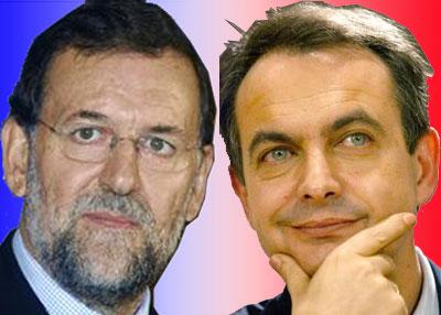 Mariano Rajoy e Luis Rodriguez Zapatero