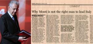 """Monti risponde a Ft e attacca ancora i partiti: """"Con i loro apparati riforme impossibili"""""""