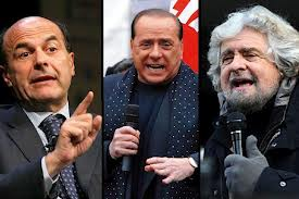 Bersani Berlusconi Grillo