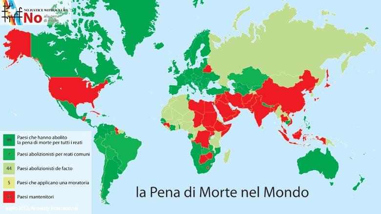 La pena di morte nel mondo sta aumentando