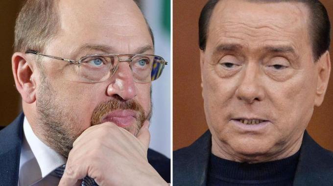 Martin Schulz e Silvio Berlusconi
