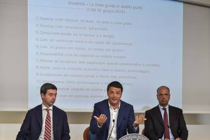Andrea Orlando, Matteo Renzi e Angelino Alfano
