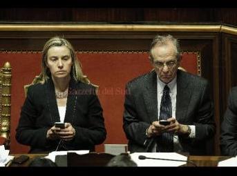 Federica Mogherini e Piercarlo Padoan