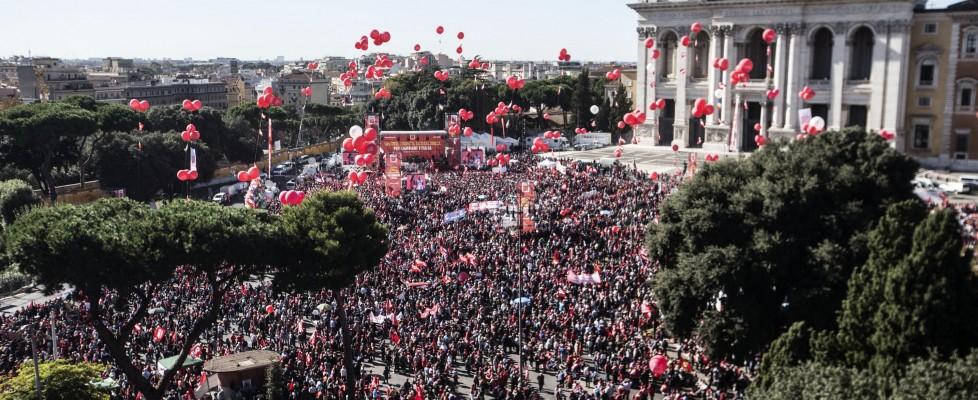 Manifestazione Cgil contro il governo