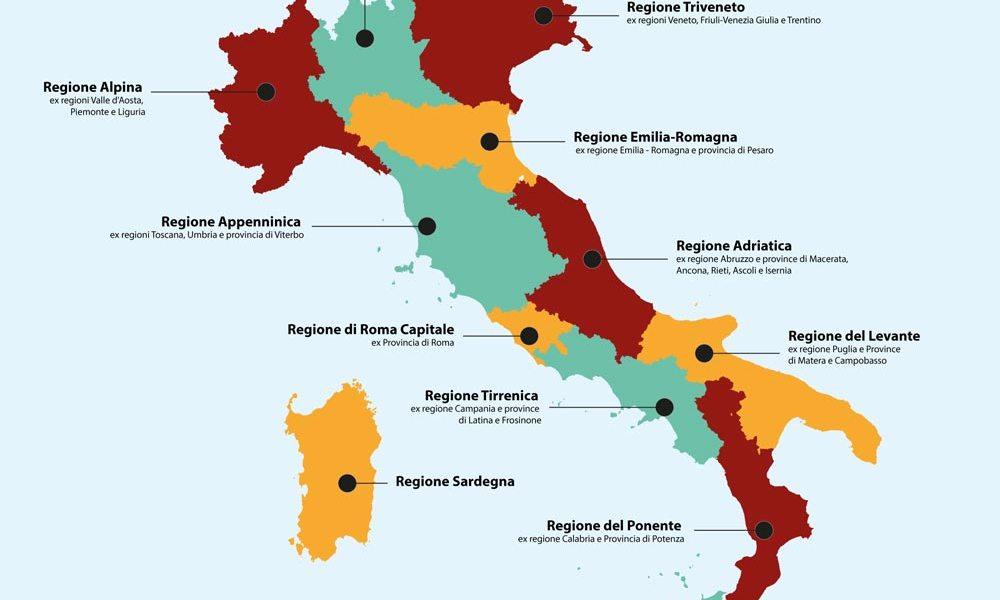 Ddl Morassut-Ranucci: riduzione Regioni da 20 a 1