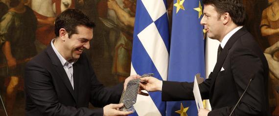 Renzi e Tsipras: il patto della cravatta