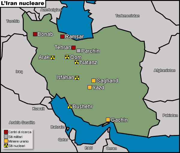 Iran: le limitazioni al programma nucleare