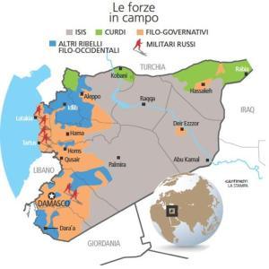 Siria: i fronti rimangono tre