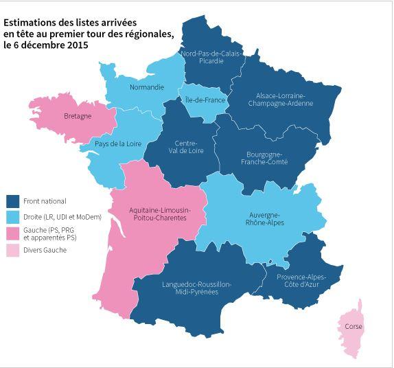 Francia, il Fn ha vinto il primo turno delle regionali