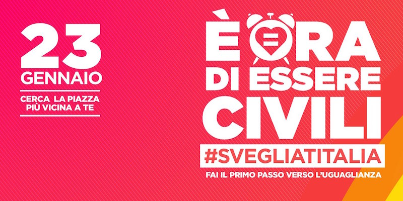 100 piazze italiane vogliono le unioni civili.