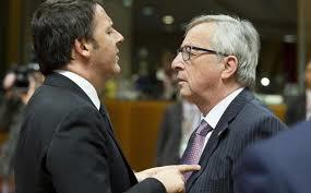 Finta pace tra Juncker e Renzi