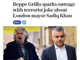 """Per Grillo il nuovo sindaco di Londra è un """"terrorista""""."""