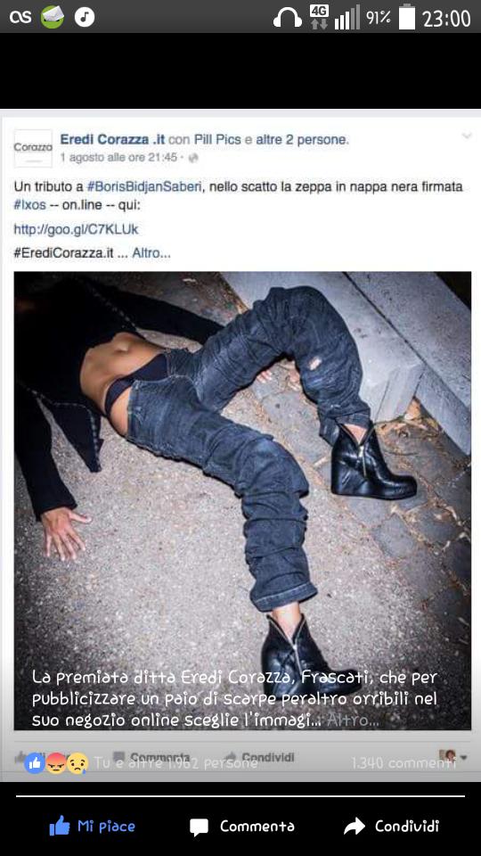 Stupro normalizzato per pubblicità