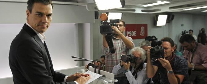 Spagna, il segretario socialista Pedro Sanchez si dimette