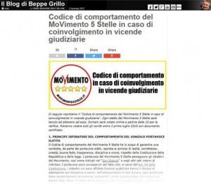 """M5S, approvato codice etico """"salva Raggi"""": sugli indagati deciderà Grillo"""