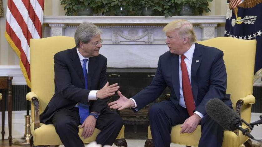 """Trump a Gentiloni: """"L'Italia è un alleato vitale per gli Stati uniti"""""""