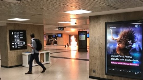 Bruxelles, attacco alla stazione centrale.