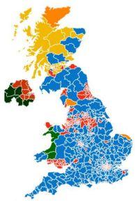 cartina elezioni Uk