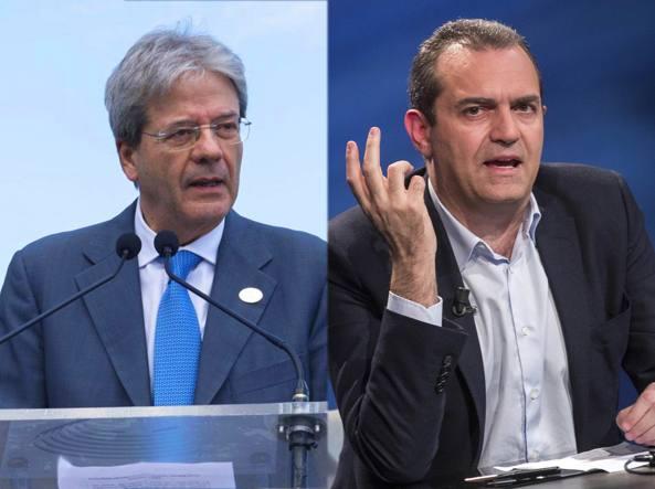 Napoli, de Magistris incontra a Roma il premier Gentiloni e Delrio