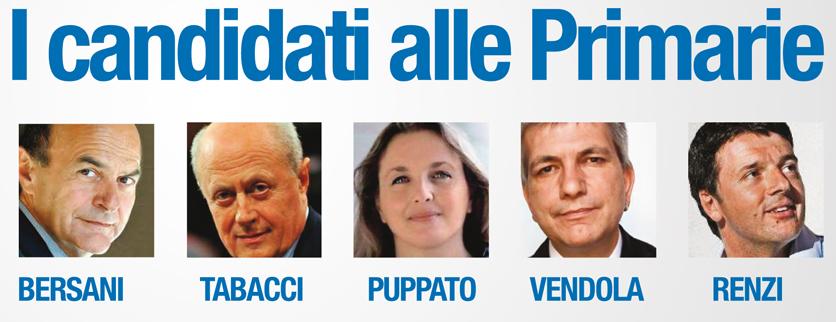 Primarie centrosinistra: vince Bersani