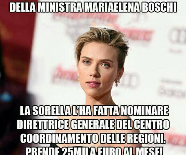 Ma come si fa a non riconoscere Scarlett Johansson? Eppuri sono in molti che la credono la sorella della Boschi ...