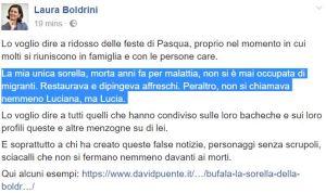 La bufala della sorella di Laura Boldrini