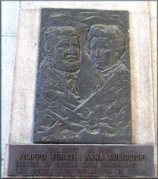Monumento a Milano a Filippo Turati e Anna Kulischoff