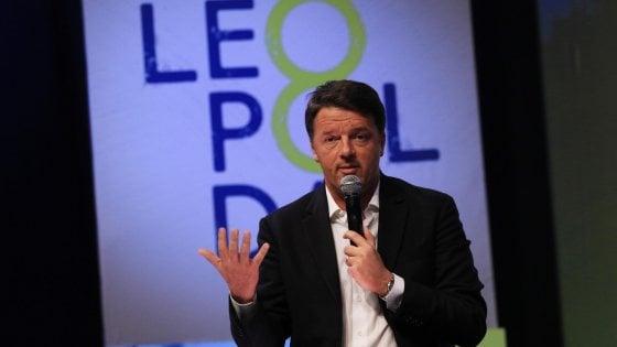 """Renzi: """"80 euro a famiglie con figli"""". """"Sul Web M5s e Lega usano stessi codici, li abbiamo sgamati"""""""