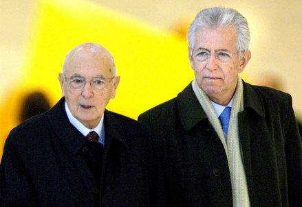Monti va da Napolitano e apre la crisi