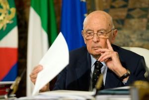 """Napolitano: """"Legge elettorale, basta rinvii"""""""