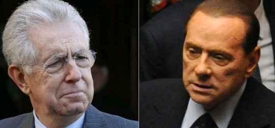 Scoppia la rissa tra Monti e Berlusconi