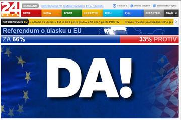 Croazia: nel referendum il 66,2% dice sì alla Ue