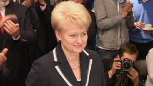 Dalia Grybauskaite è la prima presidente donna della Lituania.