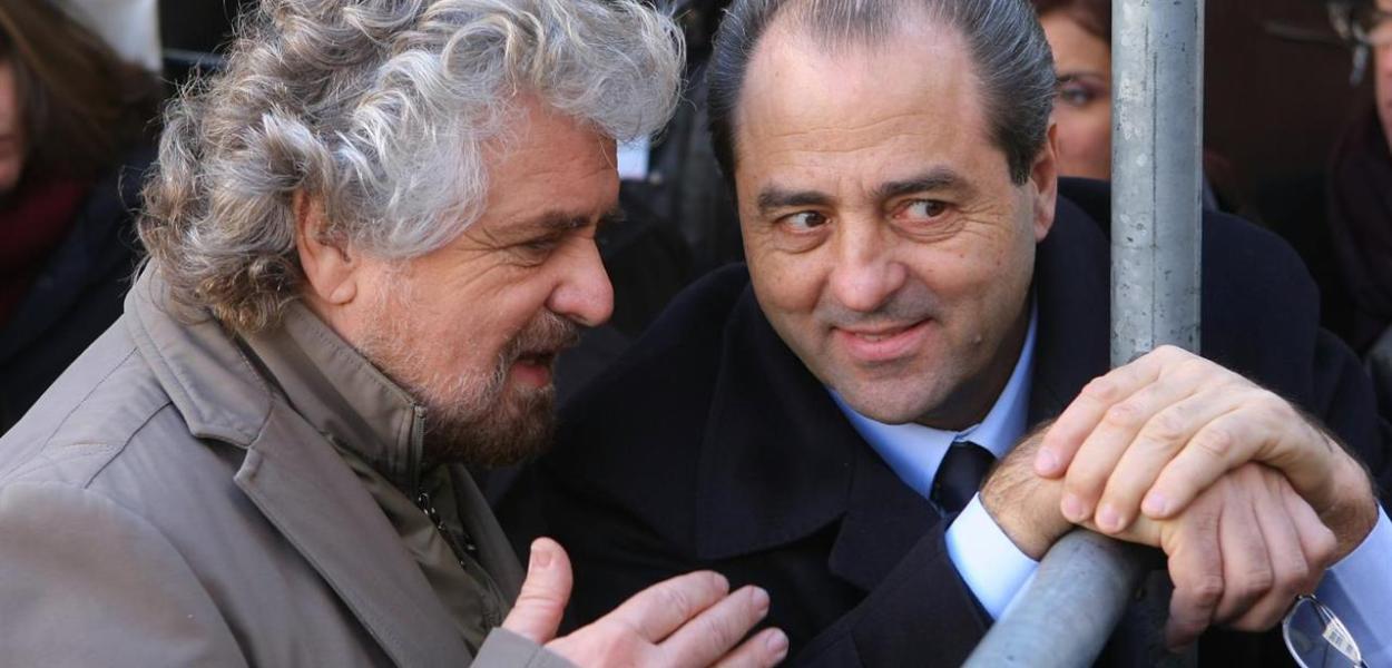 """Di Pietro: """"Grillo vuole un partito quindi è un nemico"""""""