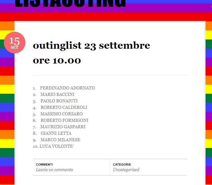 Lista outing: i gay omofobi