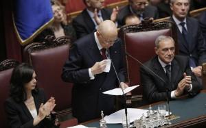 Napolitano Presidente della Repubblica bis alla sesta votazione