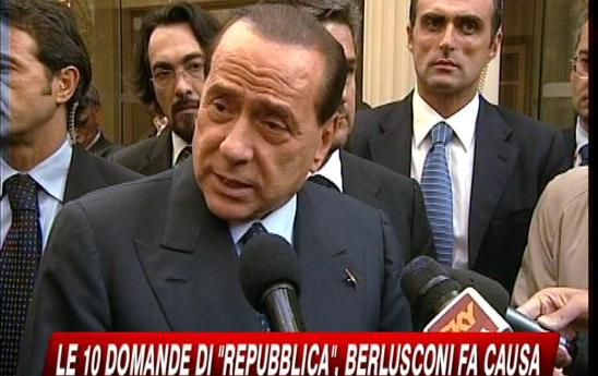 Querela di Berlusconi a Repubblica