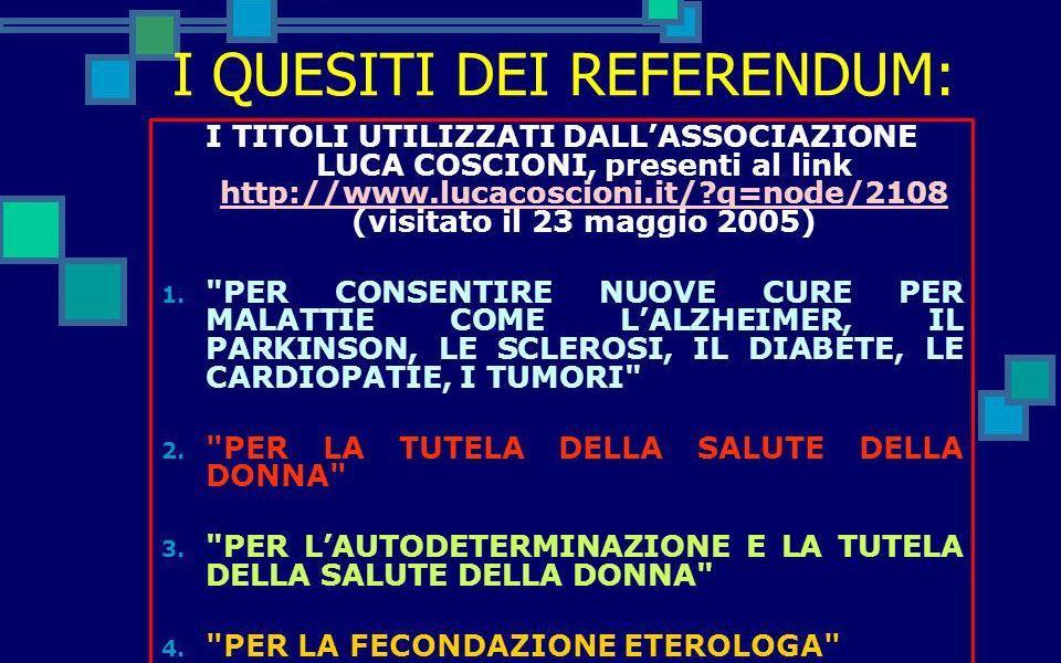 Referendum abolizione legge 40/04