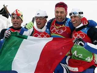 Torino 2006; Fondo, 4X10 maschile: medaglia d'oro all'Italia