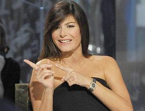 Ilaria D'Amico in un talk show in prima serata su La7