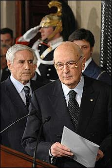 Napolitano incarica Marini. Governo per la riforma elettorale