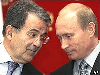 Prodi e Putin a Bari