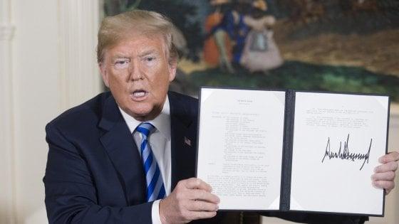 Nucleare Iran, Trump annuncia: Usa fuori da accordo. Le reazioni.