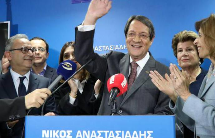 Presidenziali Cipro, Anastasiades riconfermato