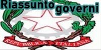 Riassunto governi