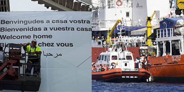 Aquarius arriva a Valencia
