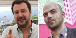 Salvini minaccia di rivedere la scorta a Saviano