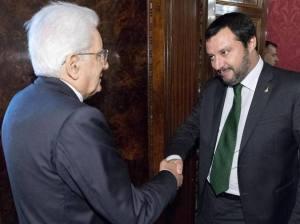 Colloquio Salvini-Mattarella, il primo vuole parlare dei problemi giudiziari della Lega, ma il presidente lo blocca